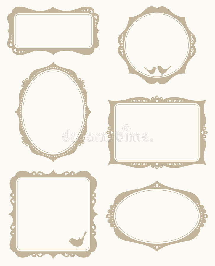 Frame Set royalty free illustration