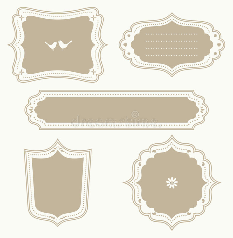 Download Frame Set stock vector. Image of circle, oval, sign, rectangular - 14915127