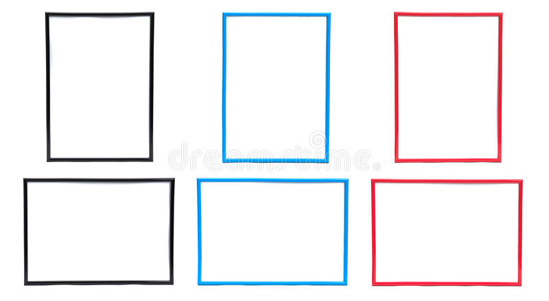 Download Frame Sets in Three Colors stock photo. Image of shadow - 28780852
