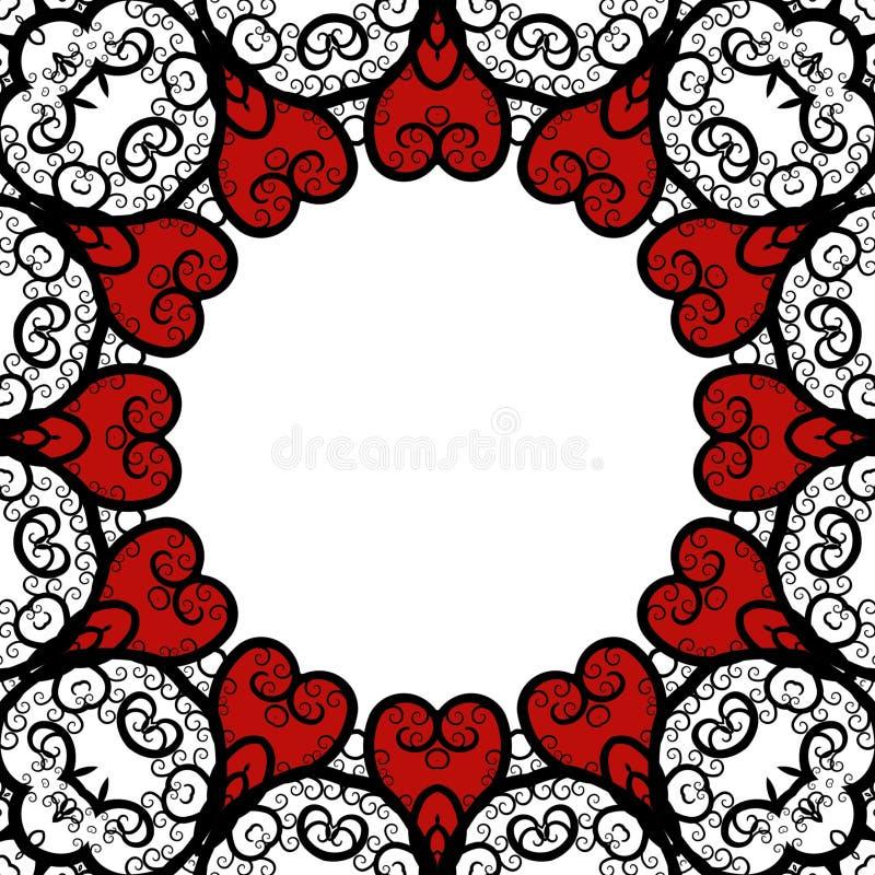 Frame 'sexy' do laço ilustração royalty free