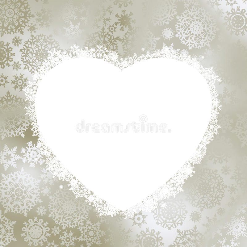 Frame in the shape of heart. EPS 8 royalty free stock images