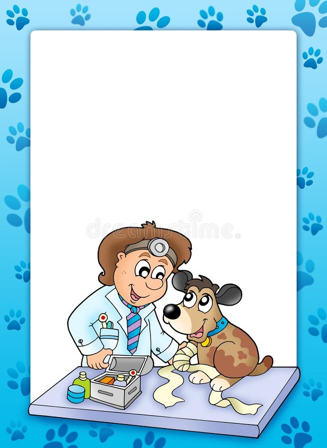 Download Frame With Sick Dog At Veterinarian Stock Illustration - Image: 12805052