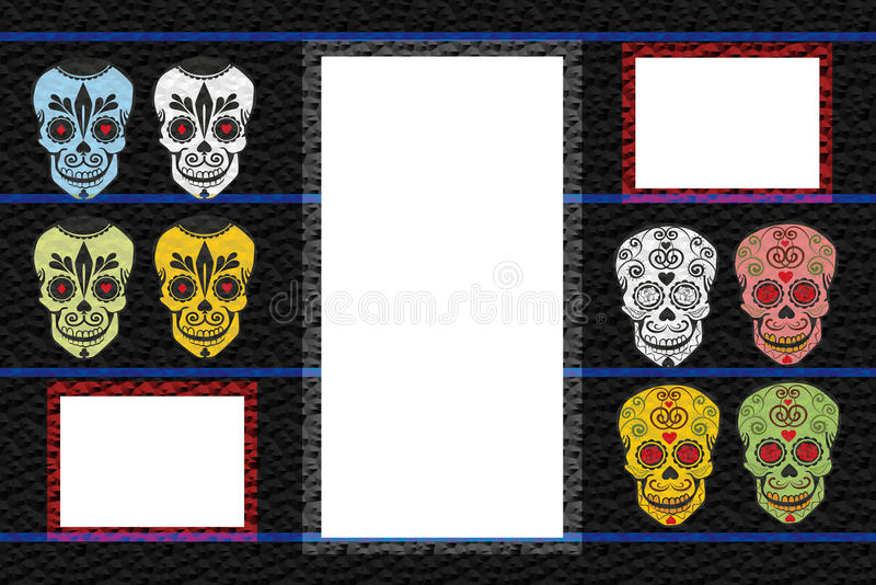 Frame With Skulls Royalty Free Stock Photos
