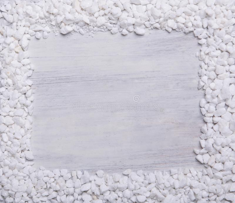The frame from small pieces of marble royalty free stock photos