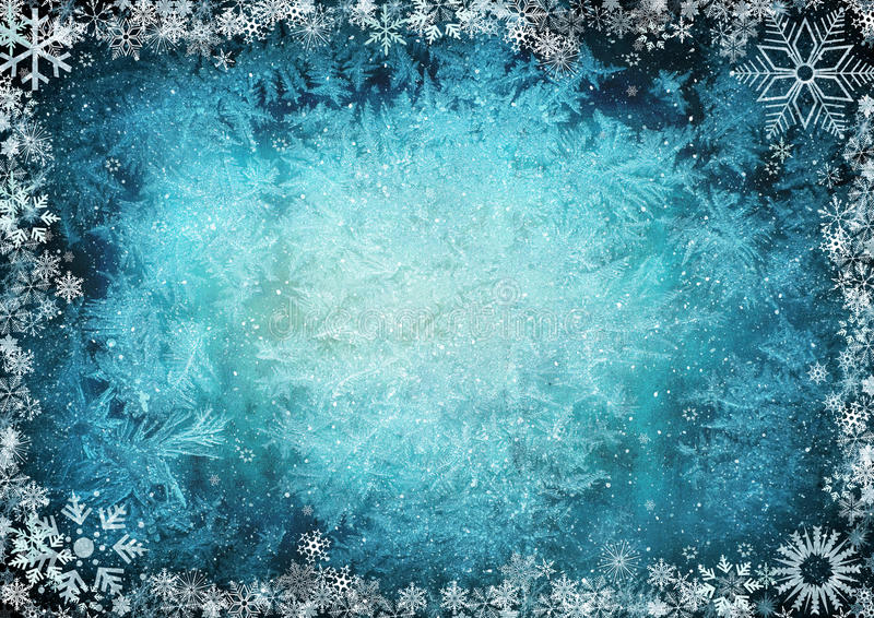 Frame from snowflakes