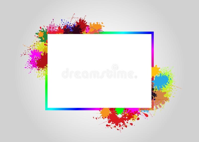 Frame on splash color. Vector frame on splash color background graphics for element for premium invitation or wedding card, luxury postcard, ornament, design vector illustration