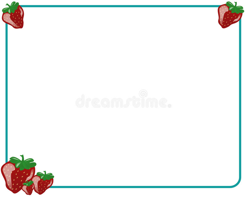 Download Frame with strawberries stock illustration. Illustration of indoors - 2205421