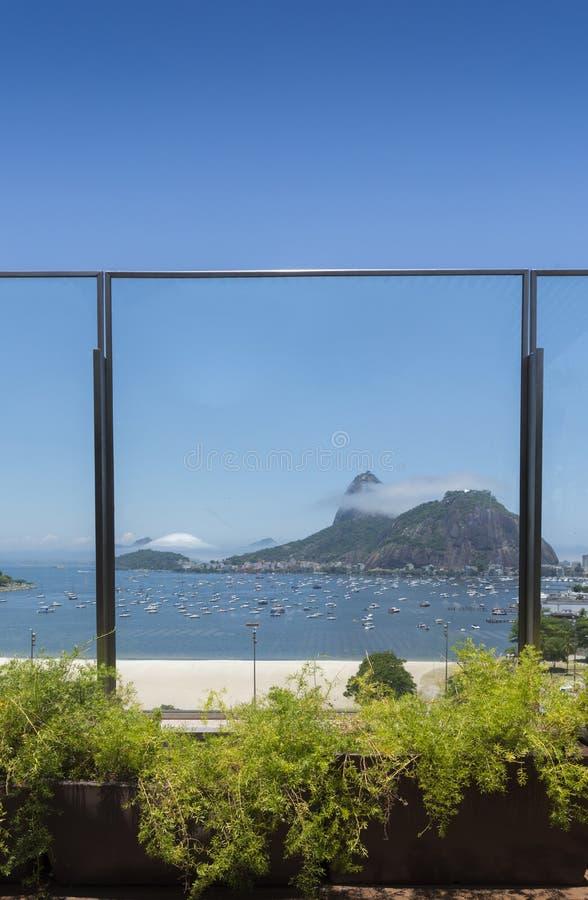 Frame of Sugarloaf Mountain, known locally as Pao de Acucar in Rio de Janeiro royalty free stock photo