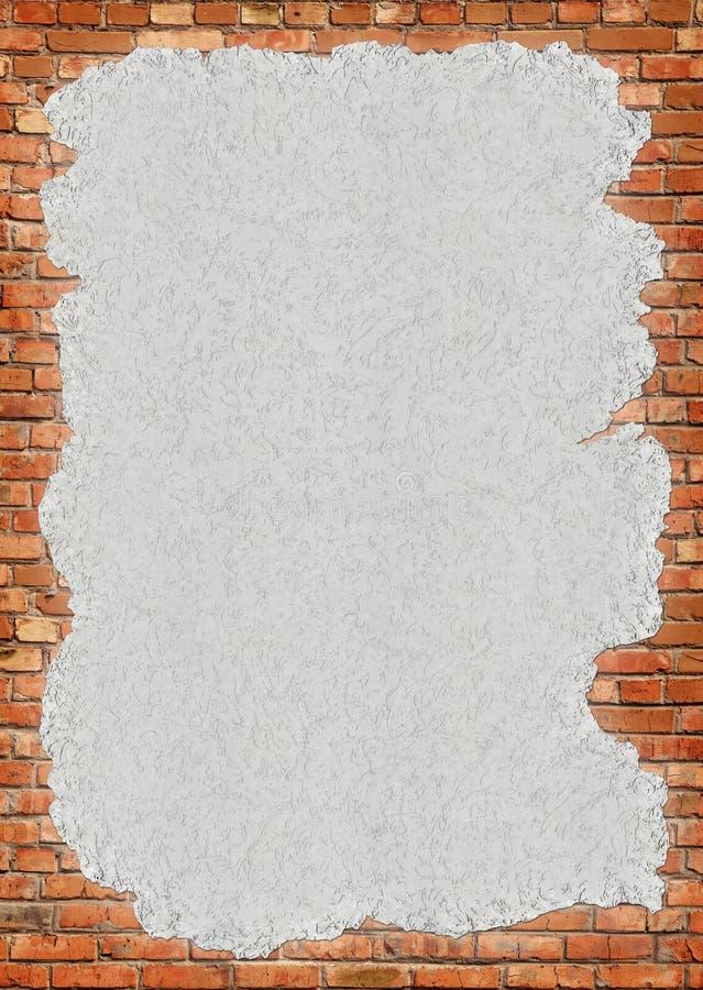 Frame sujo da parede de tijolo fotos de stock