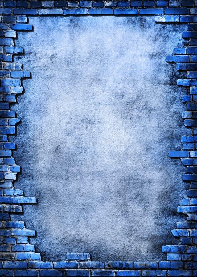 Frame sujo da parede de tijolo imagem de stock royalty free