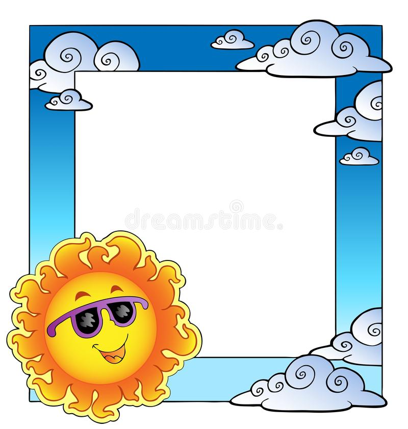Frame With Summertime Theme 2 Royalty Free Stock Photos