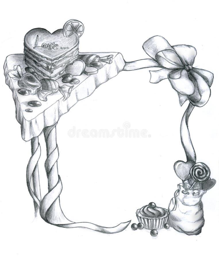 Frame of sweets vector illustration