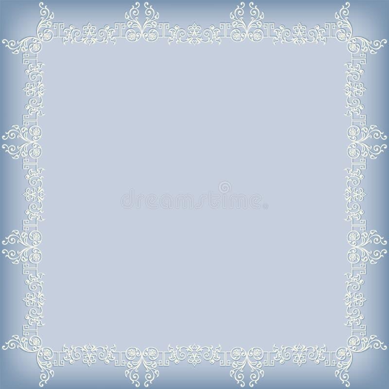 Frame swirling decorative elements royalty free illustration