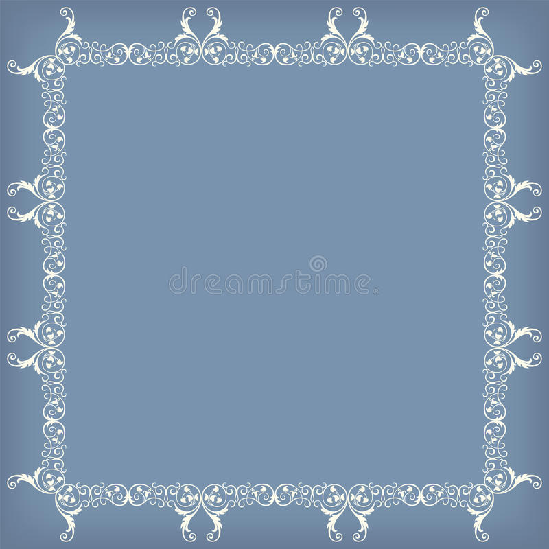 Frame swirling decorative elements ornamental royalty free illustration
