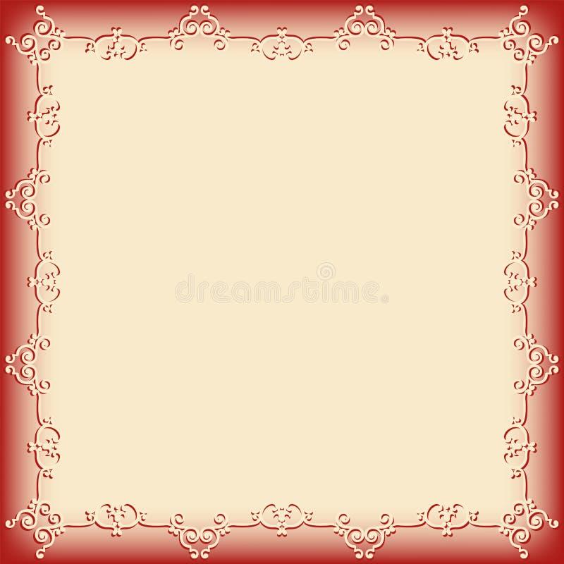 Frame swirling decorative elements stock illustration