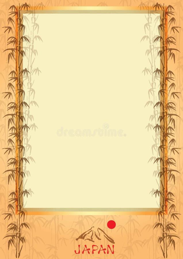Frame with symbols of Japan stock illustration