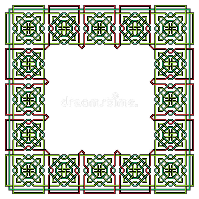 Frame with Tangled Modern Pattern royalty free illustration