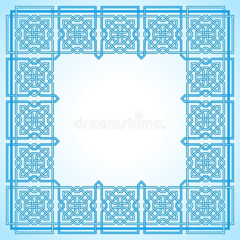 Frame with Tangled Modern Pattern vector illustration
