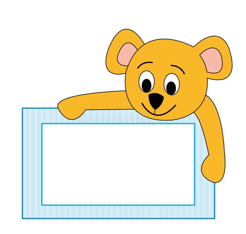 Frame with teddy bear stock photos