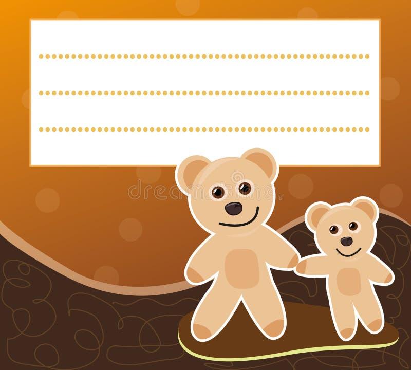 Frame with teddy bears royalty free stock photos