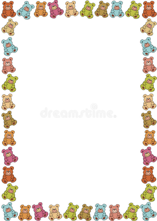 Frame Of Teddybears Royalty Free Stock Photo