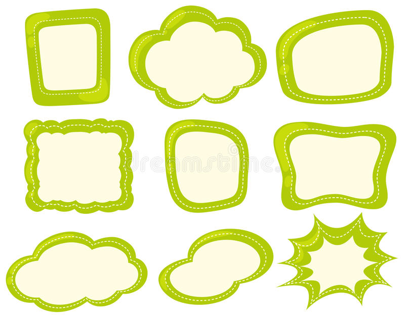 Frame template in green color royalty free illustration