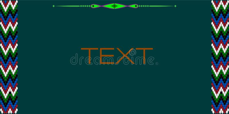 Frame for text with a pattern on bedouin fabric Sadu9. Frame for text with a separator and a pattern on the bedouin fabric Sadu. She draws attention to the vector illustration