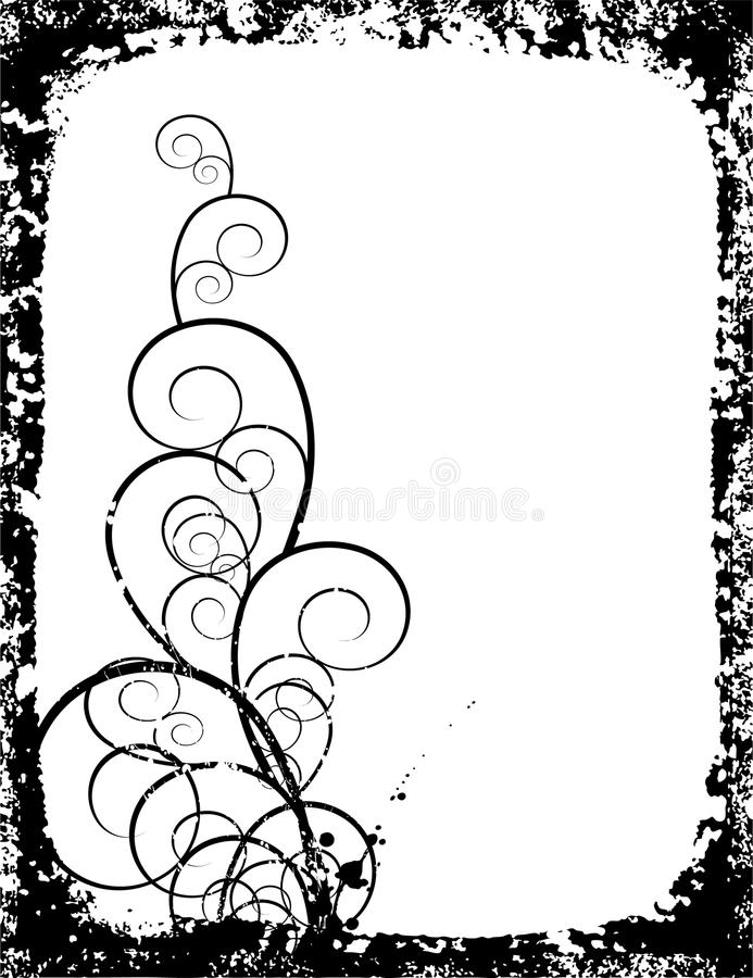 Frame Texture with Swirl vector illustration