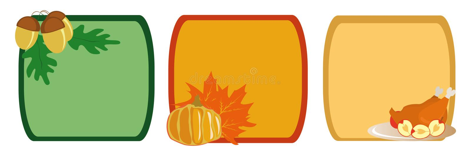 Download Frame for Thanksgiving Day stock vector. Image of fruit - 7194513