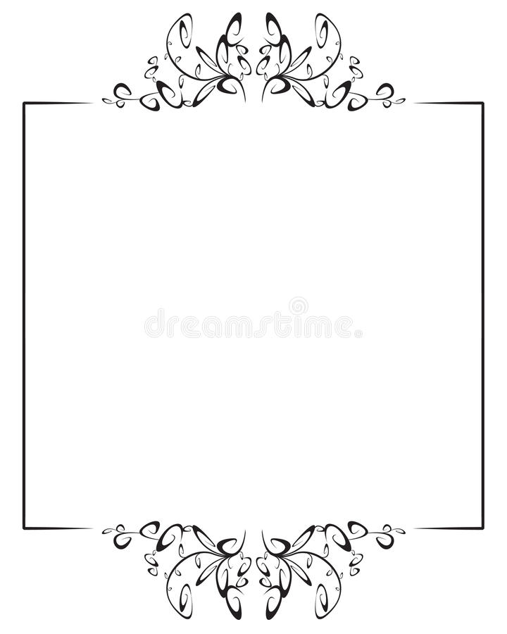 Frame with top and bottom decoration royalty free stock photos
