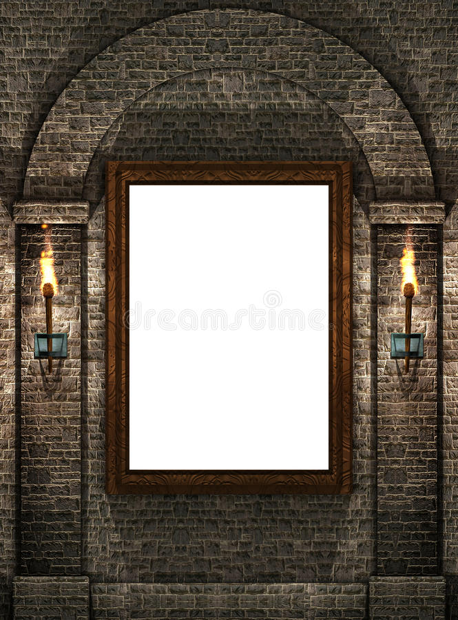 Download Frame With Torches Stock Image - Image: 10474811