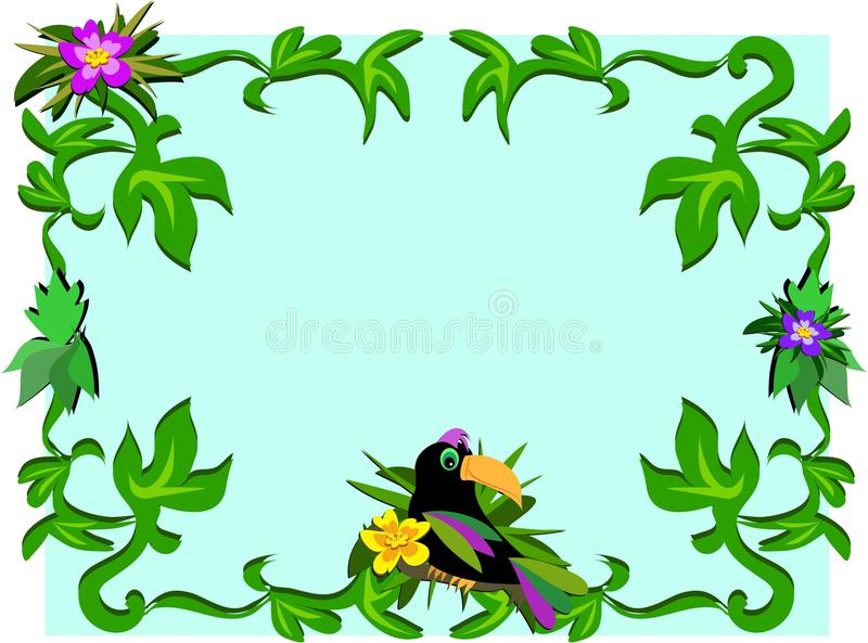Download Frame Of Toucan, Plants, And Hibiscus Stock Images - Image: 16473824