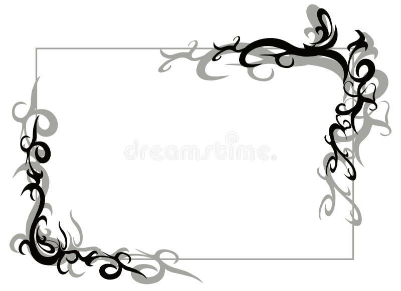 Frame tribal ilustração stock