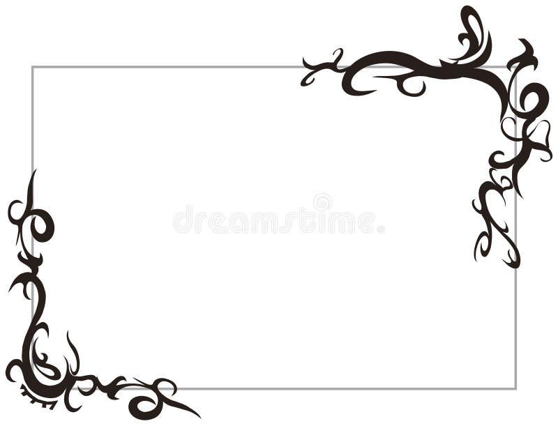 Frame tribal ilustração royalty free