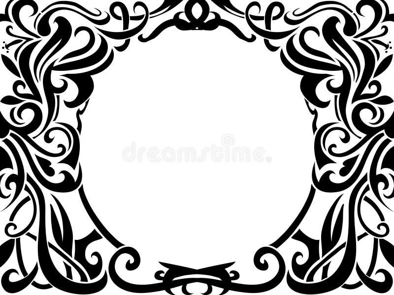 Frame tribal da arte ilustração royalty free