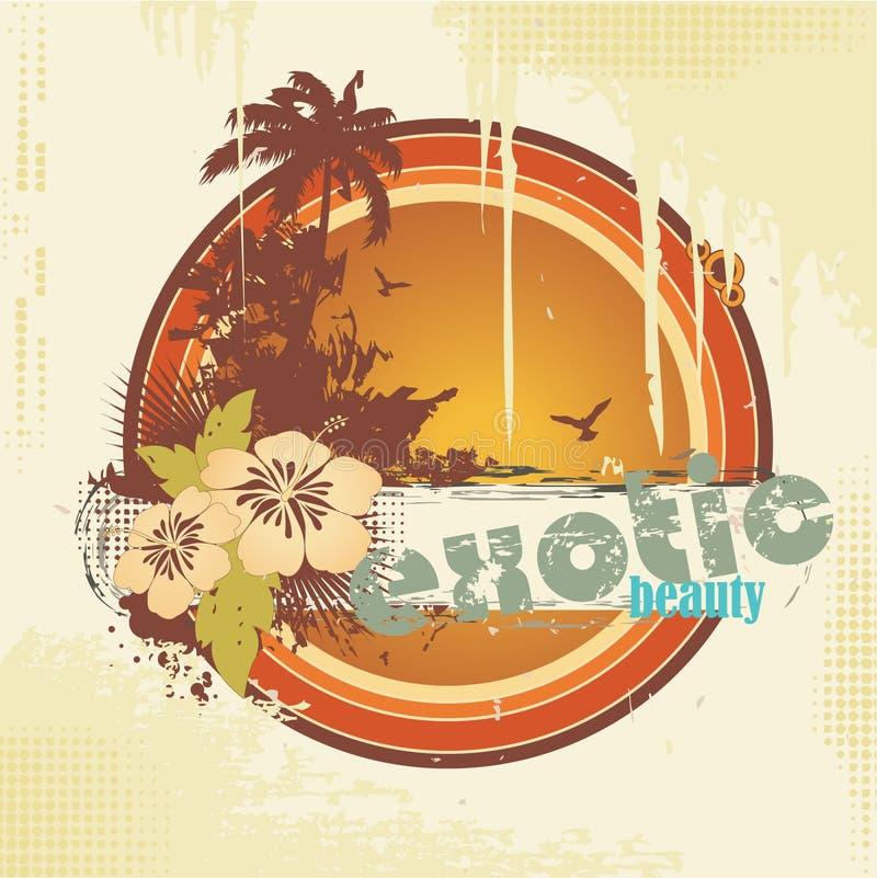 Frame tropical ilustração royalty free