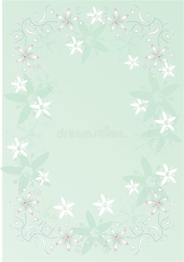 Frame tropical das flores ilustração royalty free