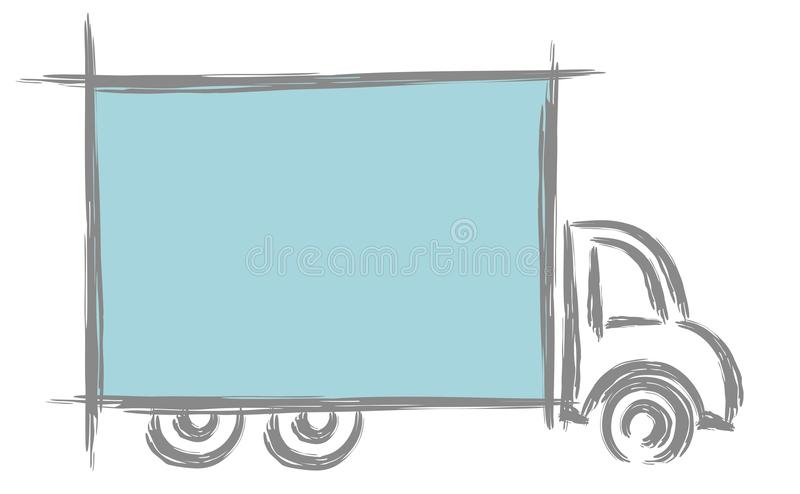 Frame with truck. vector illustration
