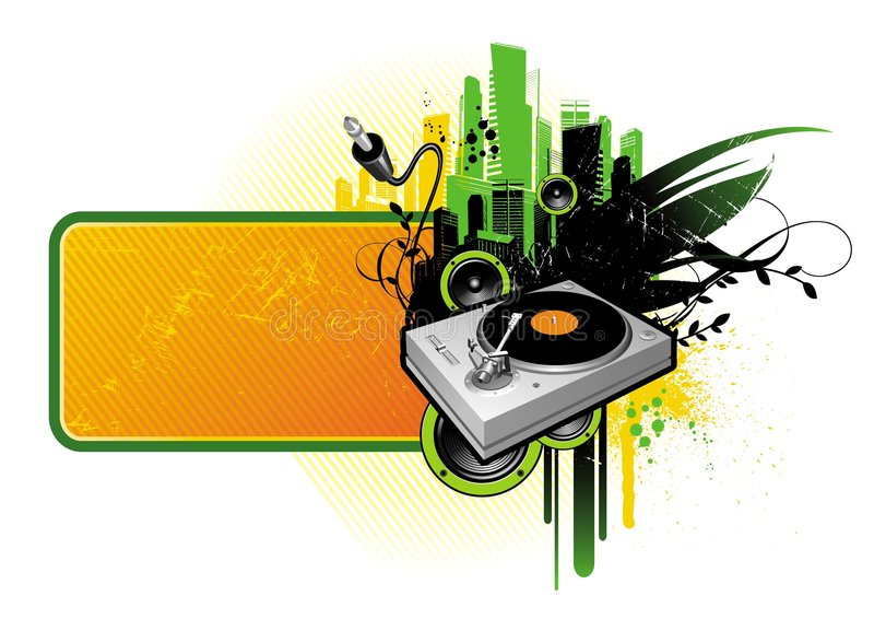 Frame with turntable royalty free illustration