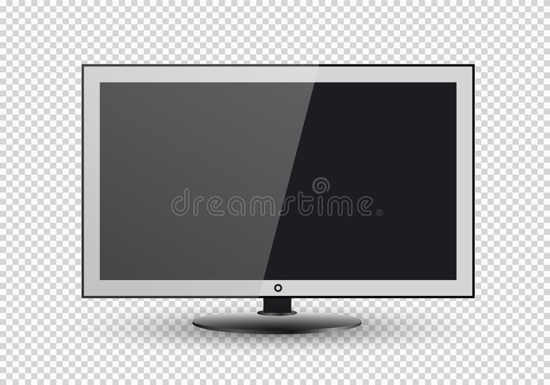 frame of tv empty led monitor of computer or black photo frame