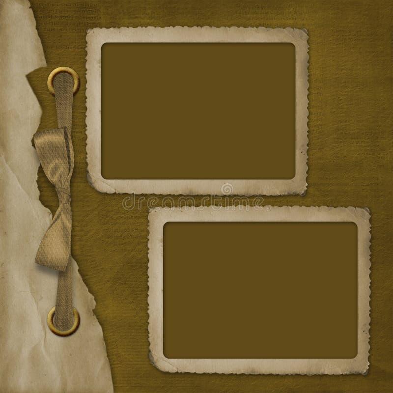Frame twee voor foto, op de abstracte achtergrond stock illustratie