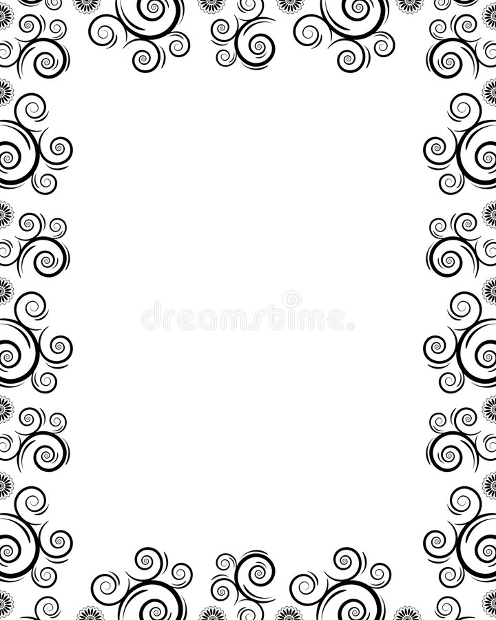 Frame With Twirls Stock Images