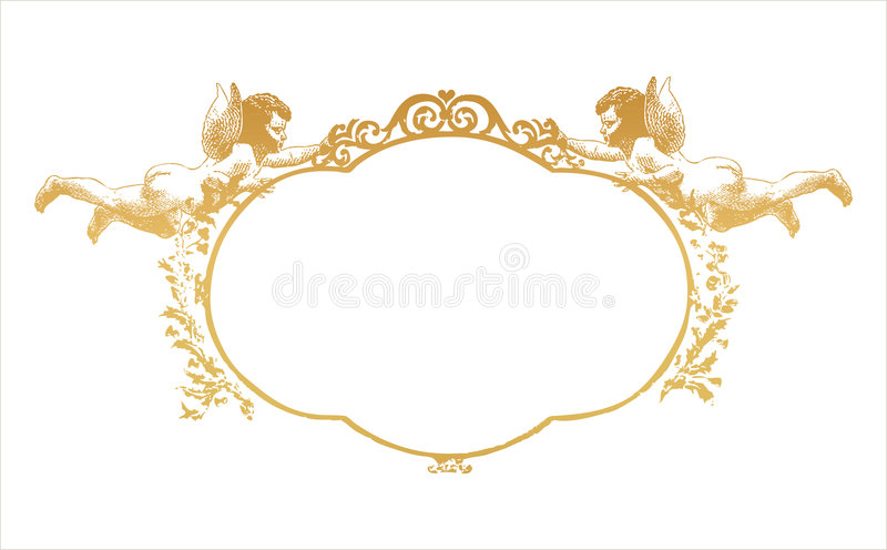 Frame with two herubs royalty free illustration