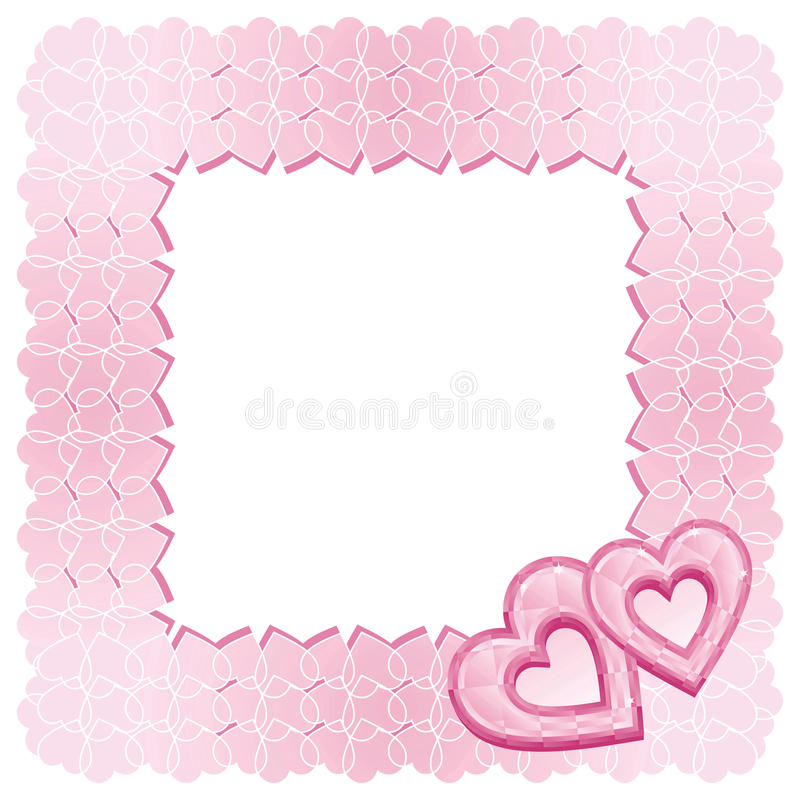 Download A Frame Of Two Pink Diamond Hearts Stock Vector - Illustration of diamonds, occassion: 10966571