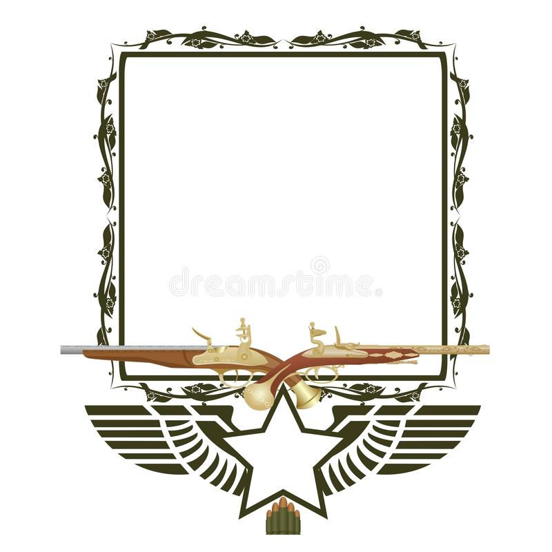 Download Frame And Two Pistols Royalty Free Stock Photo - Image: 36930585