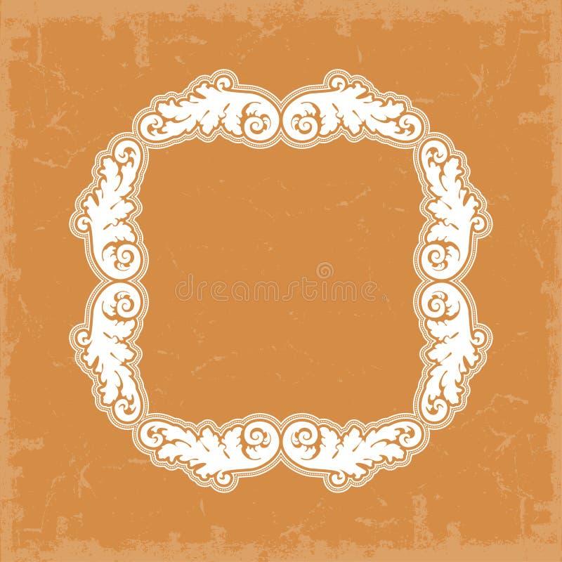 Frame in uitstekende stijl royalty-vrije illustratie