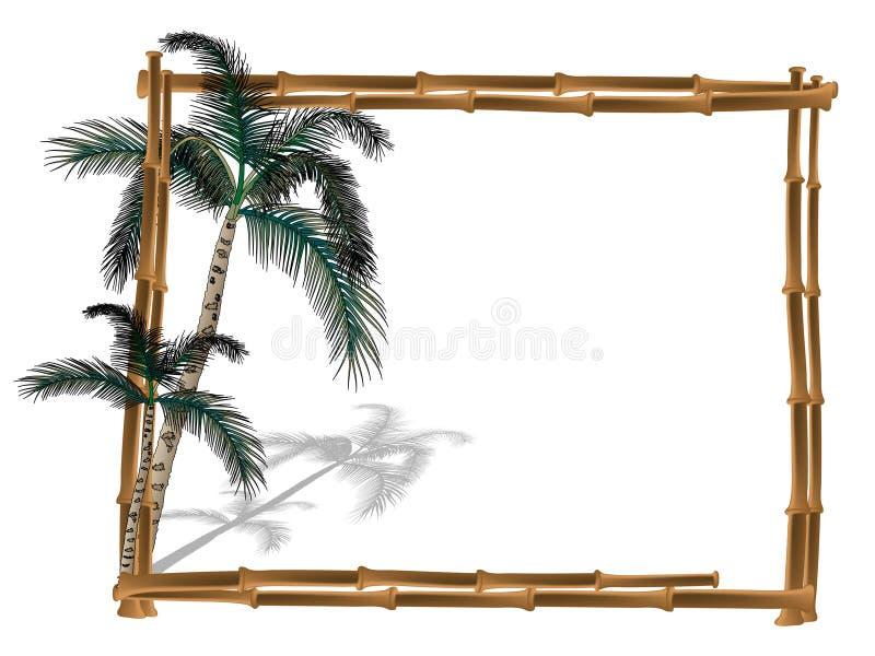 Frame van bamboe stock illustratie