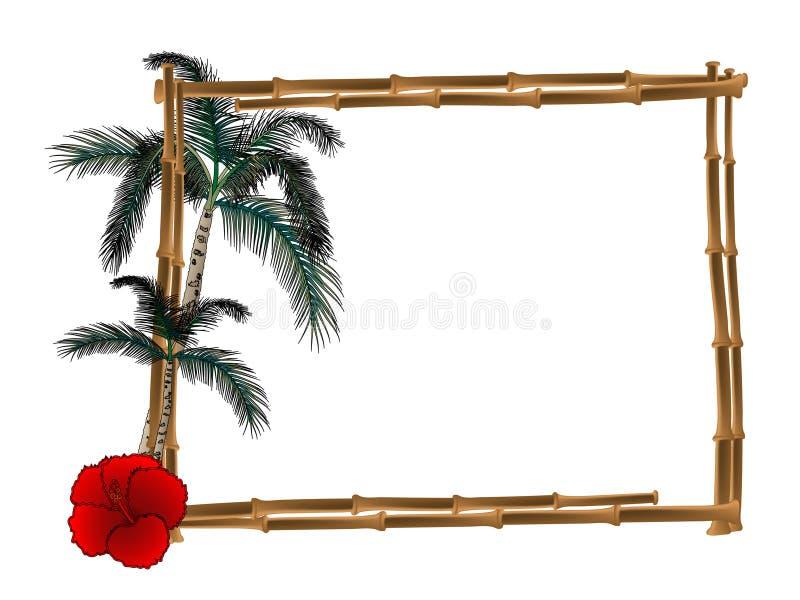 Frame van bamboe vector illustratie