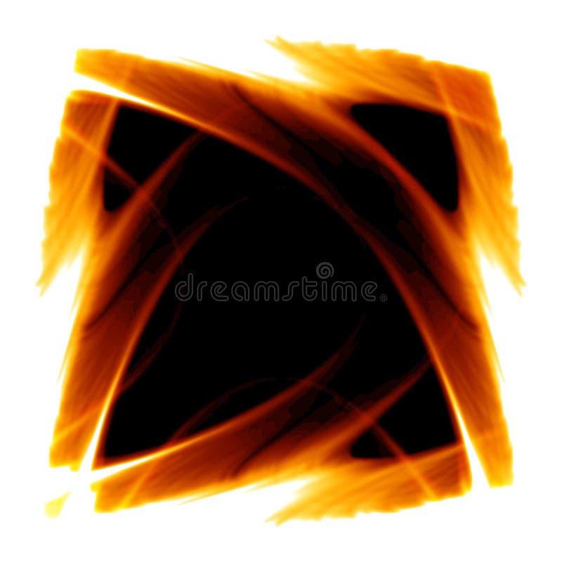 Frame van brand stock illustratie