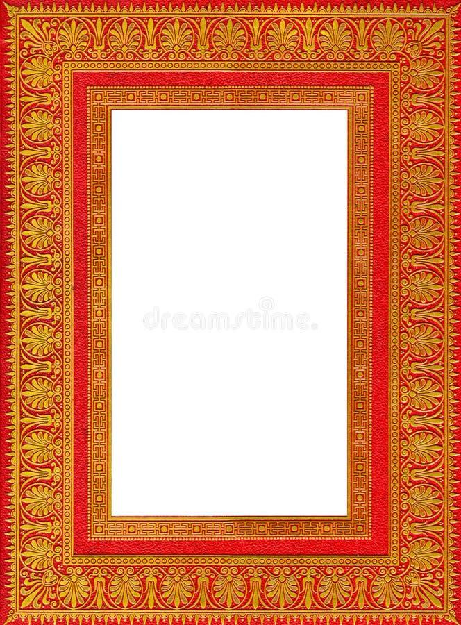 Frame van een oud oud boek royalty-vrije stock afbeeldingen